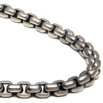 Titanium 7MM Box Link Necklace Chain