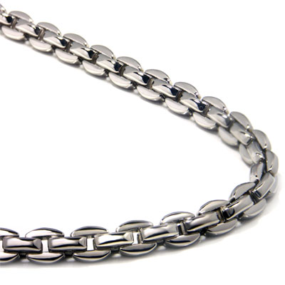 Titanium Men's 5MM Oval Link Necklace Chain