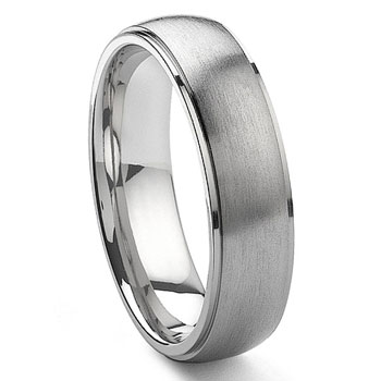 DANTE Tungsten Carbide Satin Finish Wedding Band Ring