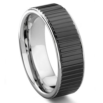 PREMIER COIN EDGE Tungsten Wedding Band Ring