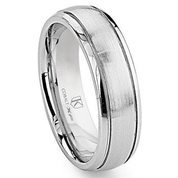 Cobalt XF Chrome 6MM Newport Dome Wedding Band Ring
