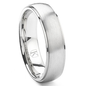 Cobalt XF Chrome 6MM Dome Wedding Band Ring w/ Raised Center,Benchmark,Scott,SK