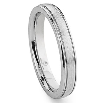 Cobalt XF Chrome 4MM Dome Newport Wedding Band Ring