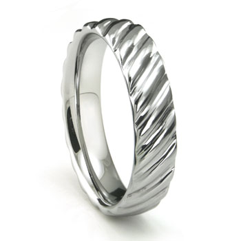 Tungsten Carbide Rope Design Wedding Band Ring