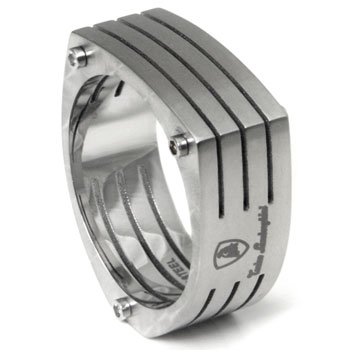 LAMBORGHINI Swirl Series Stainless Steel Ring