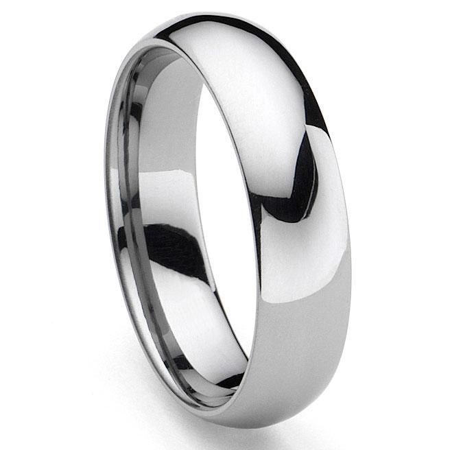 CLASSICAL Tungsten Carbide Men 39 S Plain Dome Wedding Band