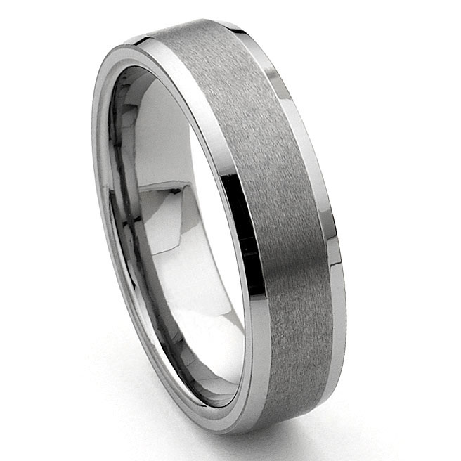 CORSAL Tungsten Carbide Satin Mens Wedding Ring