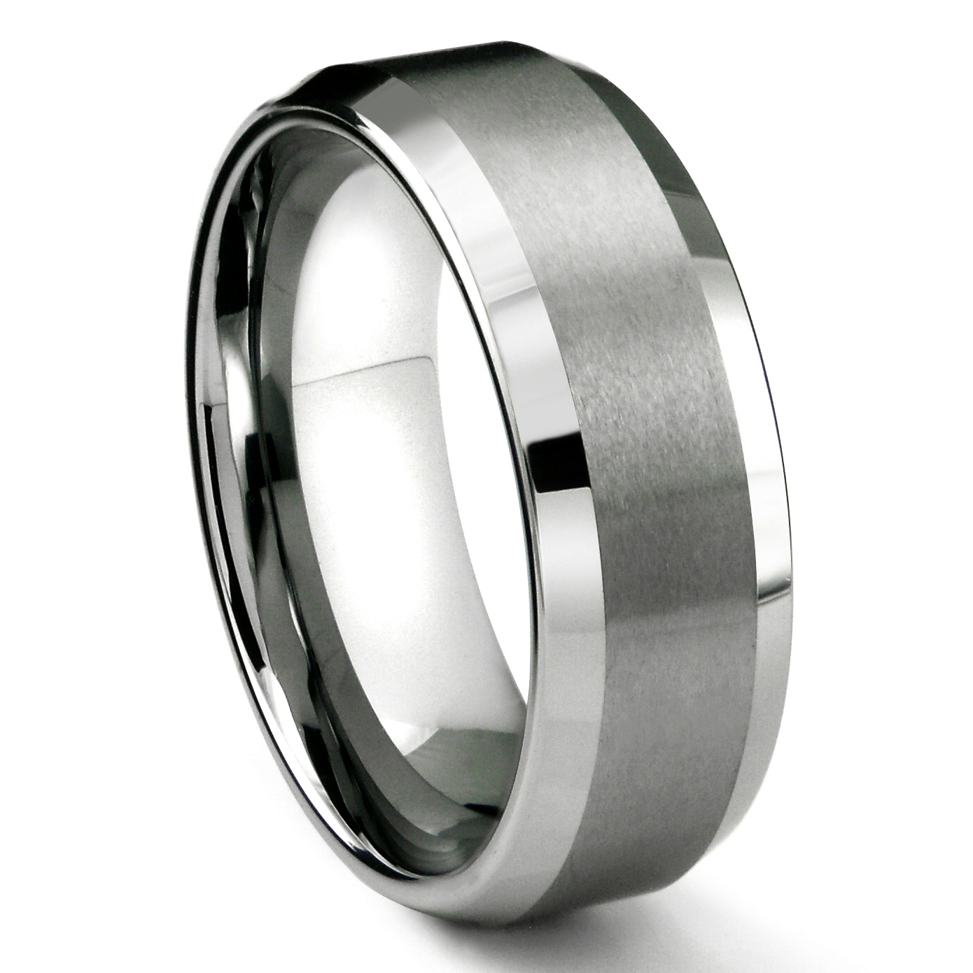 w tungsten and wedding bands finish cool wholesale silver ceramic diagonal red edges band anodized products beveled polished inner aluminum photo ring with rings brushed