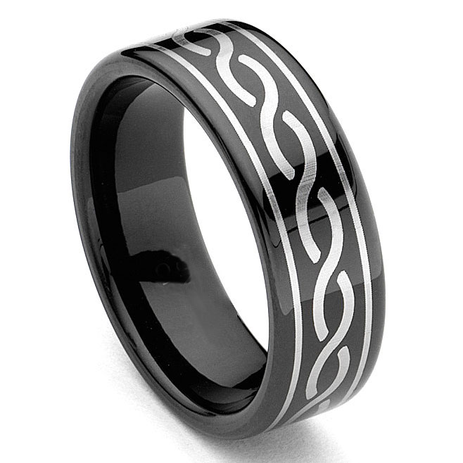 loading zoom - All Black Wedding Rings