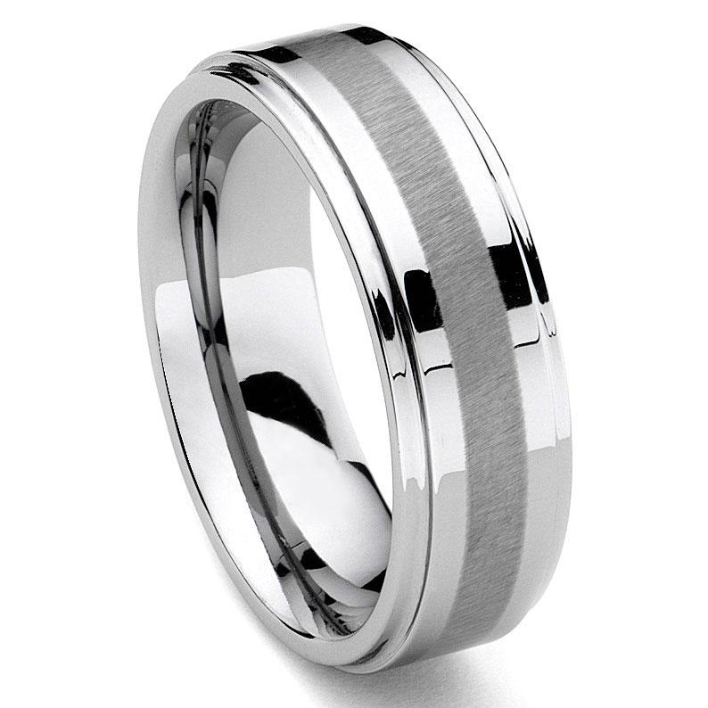 HARLEQUIN Tungsten Carbide Wedding Band Ring