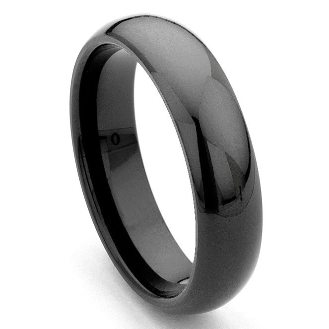 mens ring rings fit comfort black zirconia ceramic band wedding