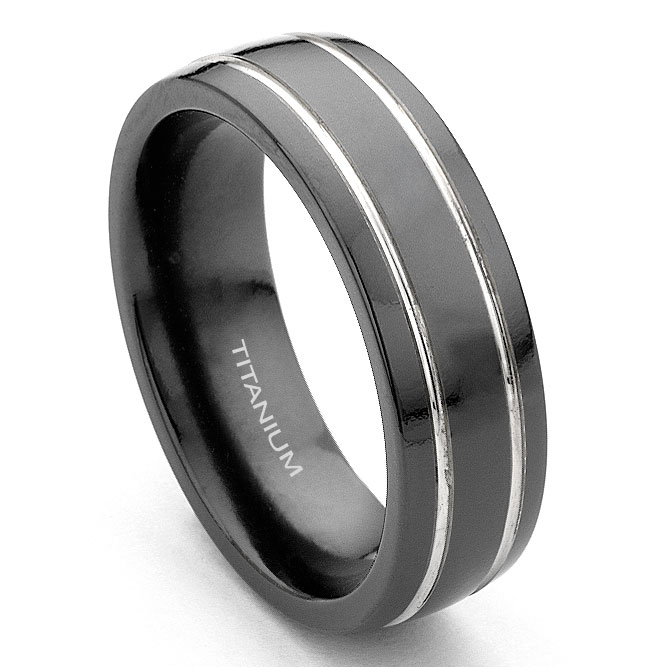 brandline for jewellery men collections rings ring king titanium will band wedding brushed fit comfort women black plated
