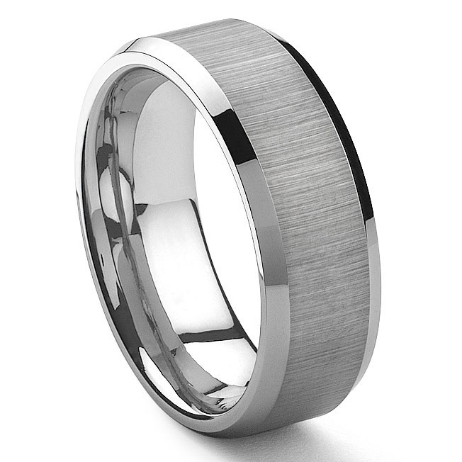 with unique wedding plain band engagement ring kz fit comfort classique white polished couple style queenwish box tungsten rings silver