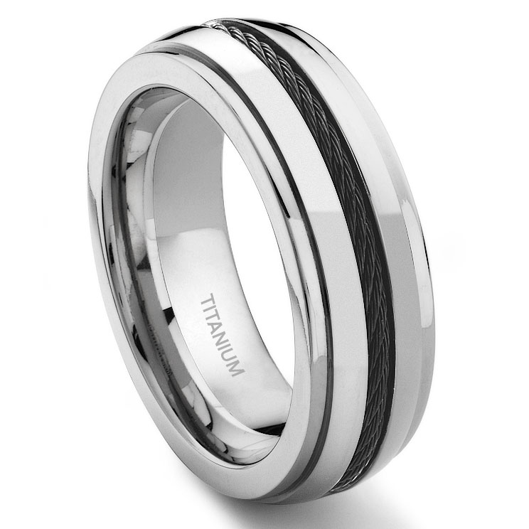dome gunmetal rose ring band mens wedding engagement gray gold rings brushed tungsten products