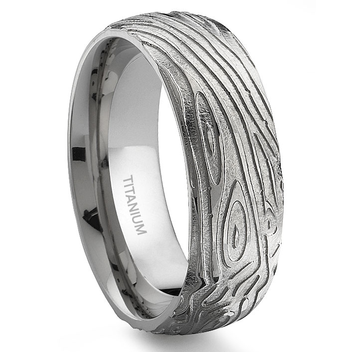 wedding bands mens with product white watches free oliveti overstock ring milgrain fit over silver on comfort s shipping jewelry orders brushed horizontal titanium men band