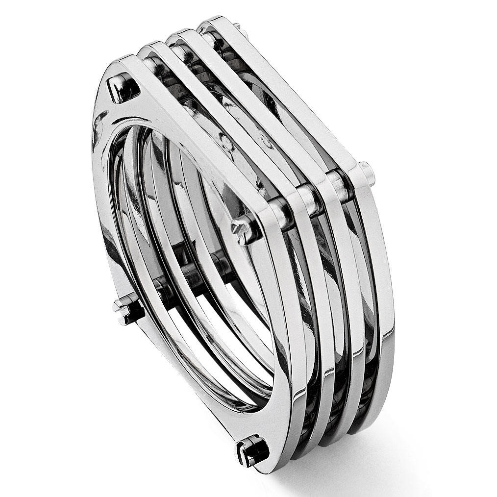 jewelers wexford band art silver ring rings diamond sleek s bands men deco mens