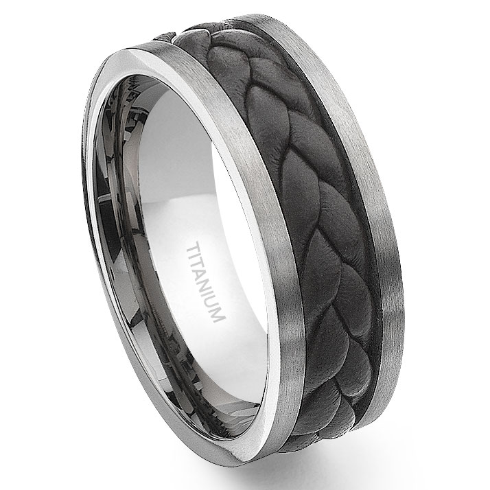 Home U003e Menu0027s Titanium Wedding Rings · Loading Zoom