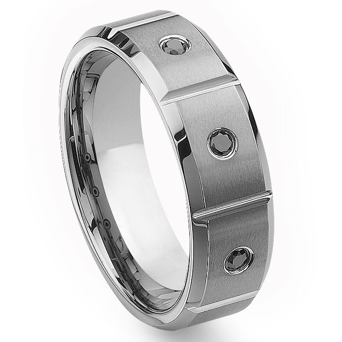 loading zoom you may also like tao tungsten carbide black white diamond wedding band ring
