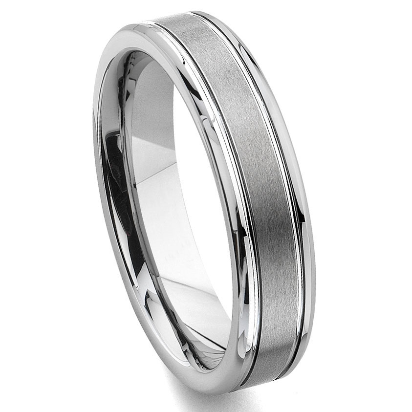 tungsten carbide 6mm grooved wedding band ring. Black Bedroom Furniture Sets. Home Design Ideas