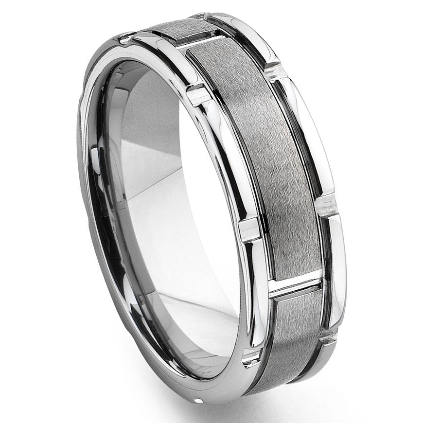 tungsten carbide grooved wedding band ring. Black Bedroom Furniture Sets. Home Design Ideas