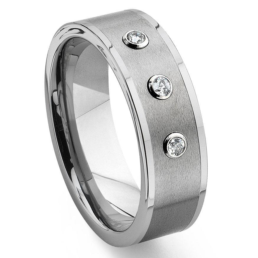Diamond Wedding Bands Tungsten And Diamond Wedding Bands