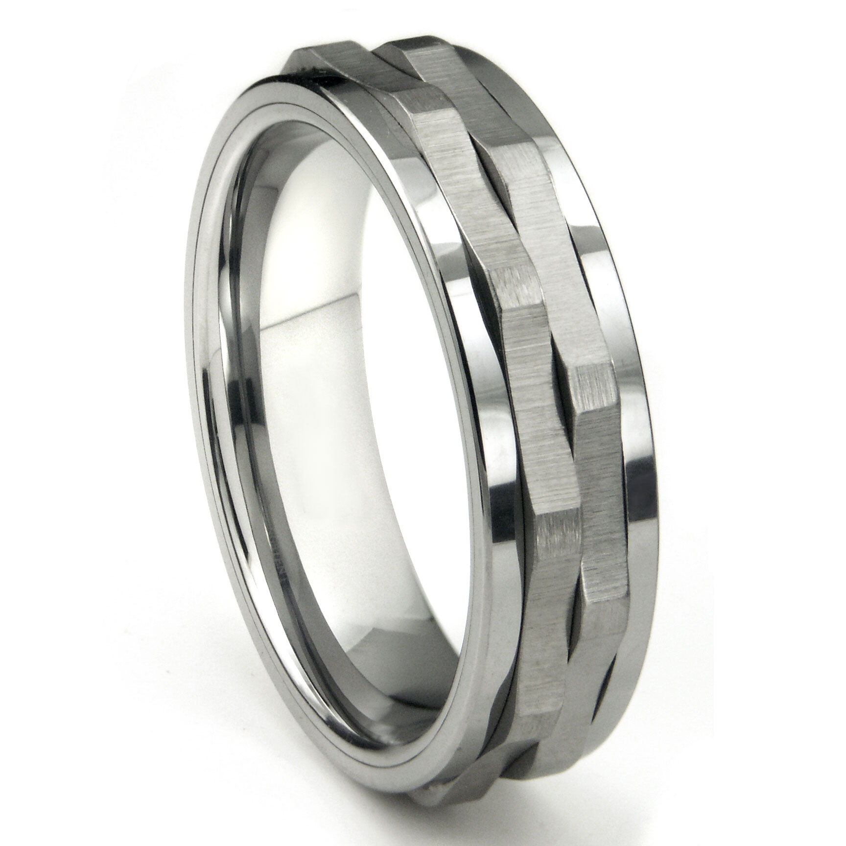ninja star tungsten carbide spinning wedding band ring. Black Bedroom Furniture Sets. Home Design Ideas
