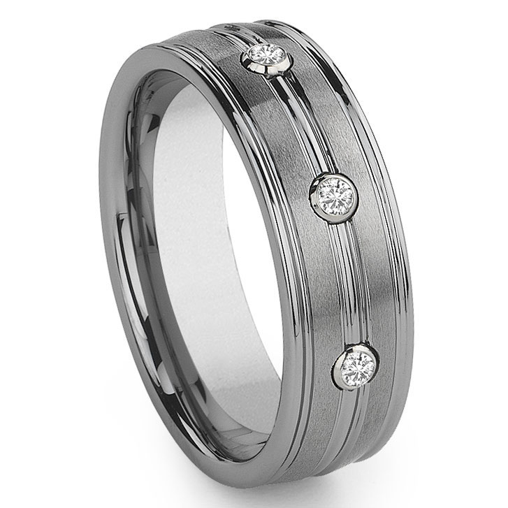 diamonds large band wedding carbide men diamond white index w s tungsten