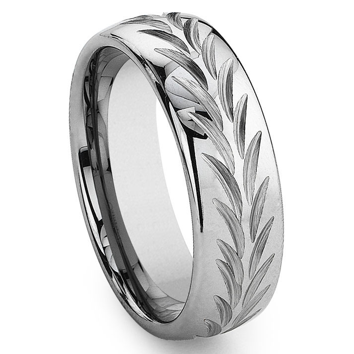 fullxfull band with rose il cz grande products ring brushed diamond collection unisex finish mens collections gold stripe stripped carbide tungsten wedding