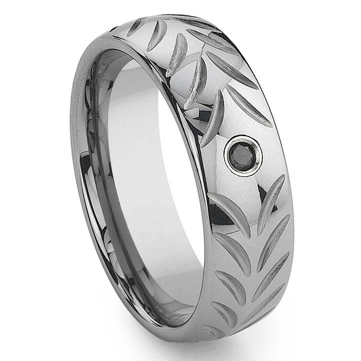 channel set and silver band inlay with diamonds jewelers diamond tungsten satin beckers comfort carbide fit finish