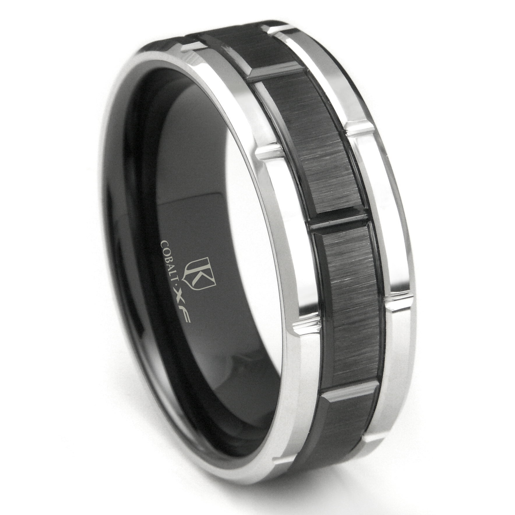 mens wedding two tungsten products channel carved bands northernroyal tone band blue top and with black