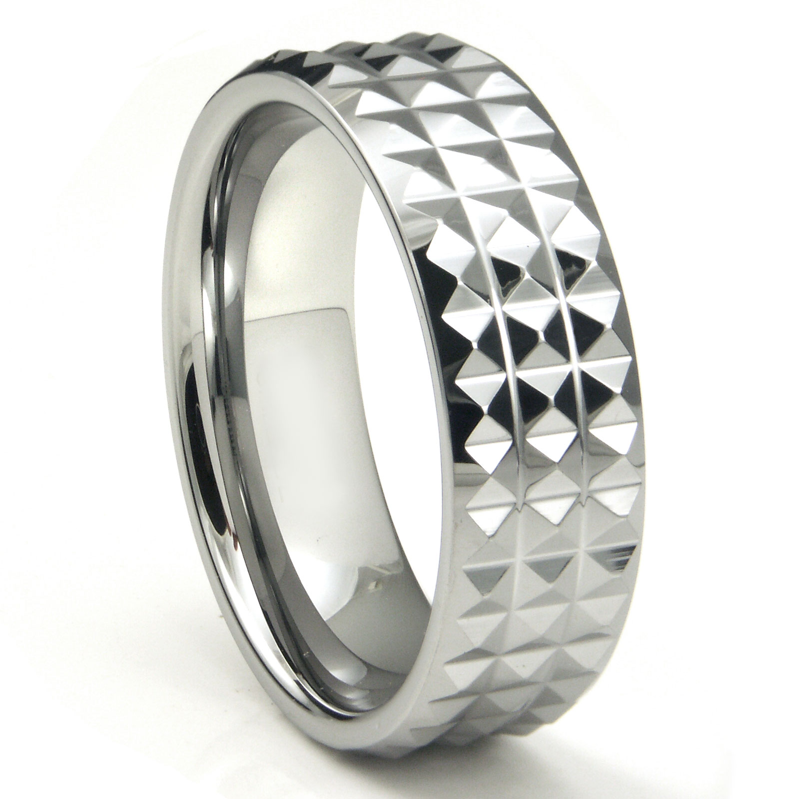 tungsten carbide diamond pattern wedding band ring With tungsten diamond wedding rings