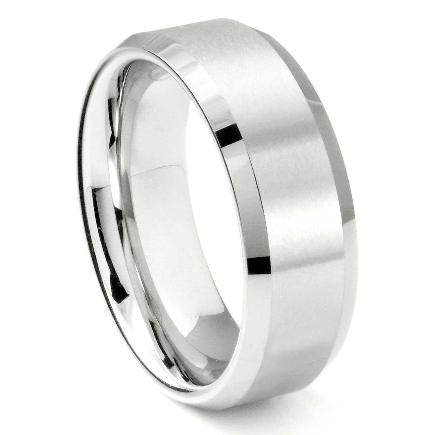 ring htm tungsten views p carat alternative brushed finish cut rings size pipe wedding