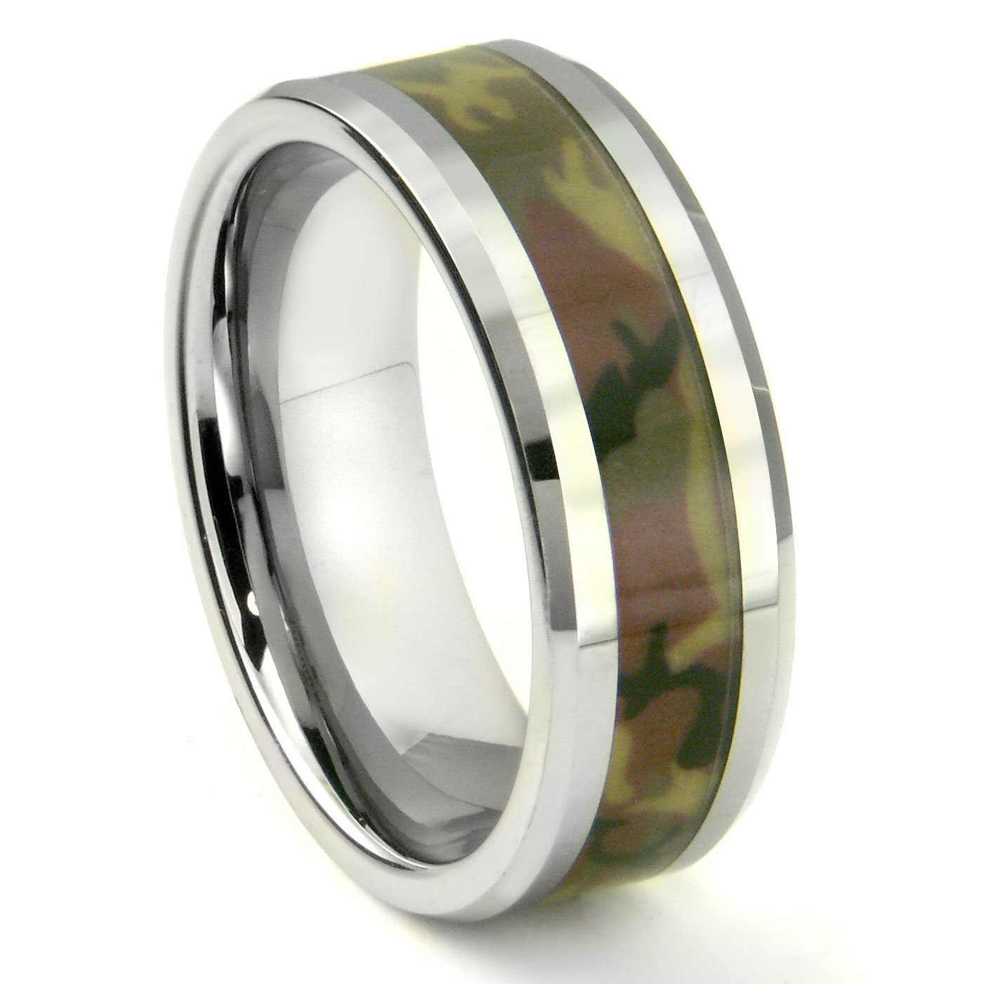 locust camo wedding ring army military titanium camouflage rings wood honey mens and new inspirational band of