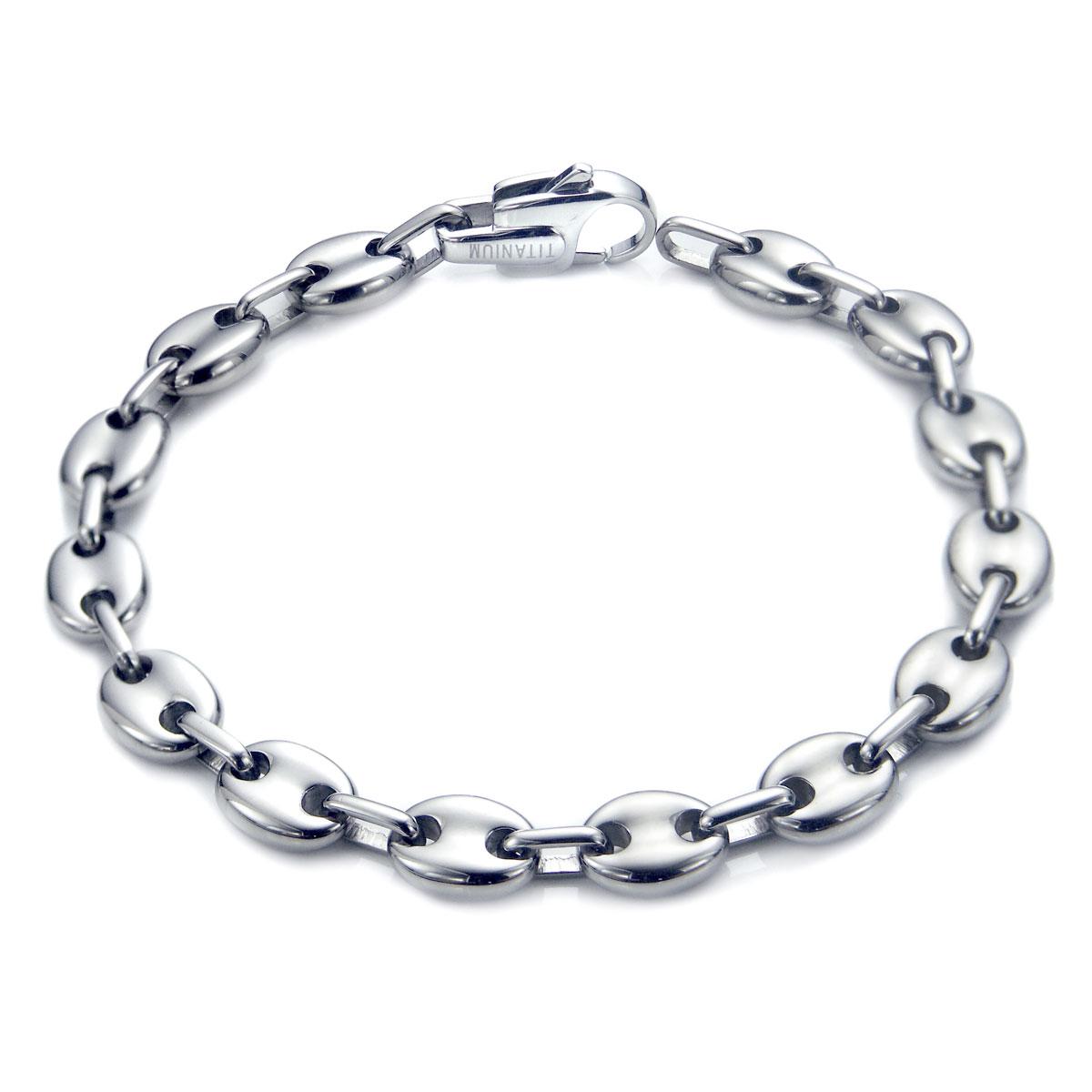 titanium s 10mm marina link bracelet