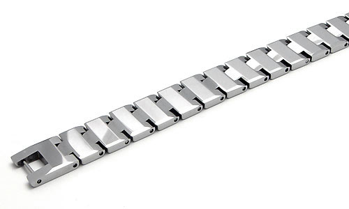 ANGELENO Tungsten Carbide Men's Link Bracelet
