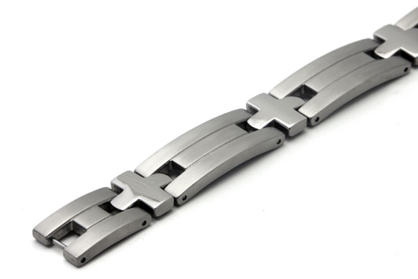 Titanium Men's Bracelet w/ Cross Designs