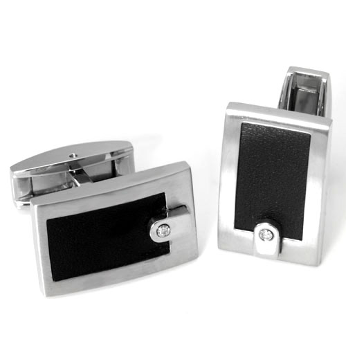 Colibri ELEMENT Stainless Steel Diamond Money Clip Cufflinks Gift Set