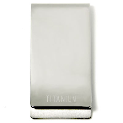 Titanium Engravable Money Clip