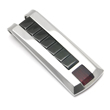 LAMBORGHINI Triple Red Stone Titanium Steel Money Clip