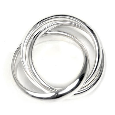 Bastian Inverun Sterling Silver 3-Band Ring