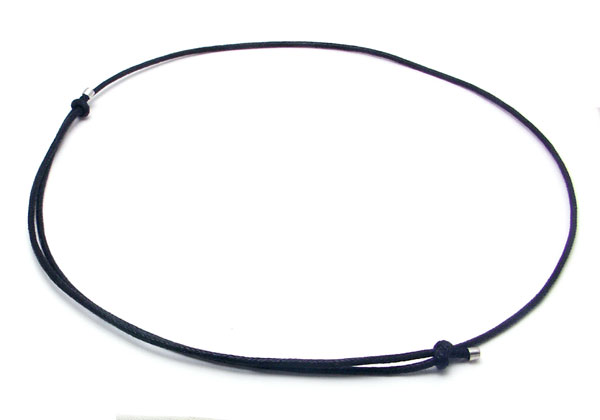 Black Leather Adjustable Necklace Cord
