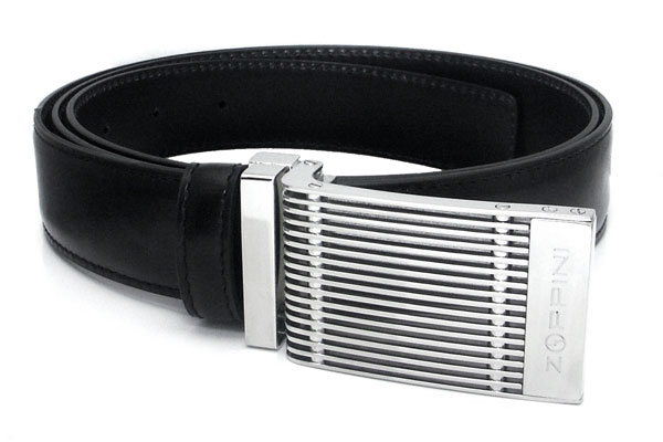 Zoppini Stainless Steel Leather Belt