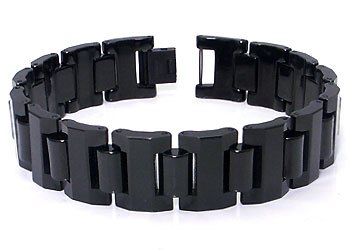 Black Tungsten Carbide 16MM Men's Link Bracelet