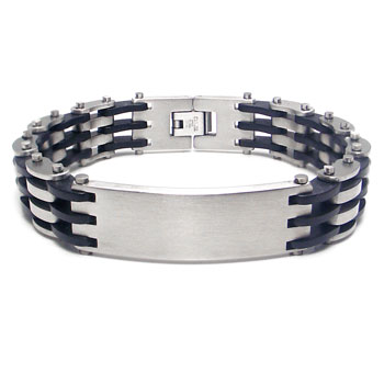 Stainless Steel Engravable ID Bracelet