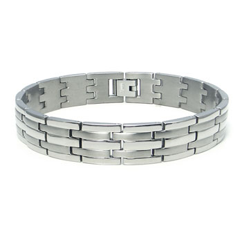 Titanium Men's Two Tone Finish Watchband Bracelet