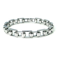 Stainless Steel High Polish Bicycle Chain Bracelet