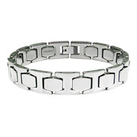 Tungsten Carbide Men's High Polish Link Bracelet