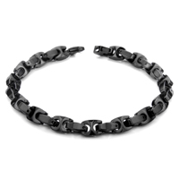 Black Tungsten Carbide 7MM Marina Link Bracelet
