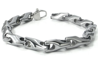 Katamie Tungsten Carbide Wheat Link Bracelet