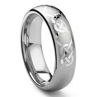 KAYLORD Tungsten Carbide Laser Engraved Celtic Knot Ring